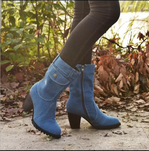 Deena - denim ankle boots picture