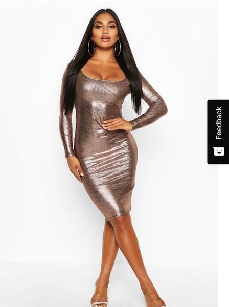 Khloe - copper pencil dress picture