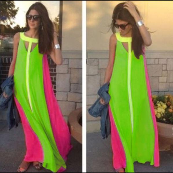 Cassie - tropical maxi dress picture