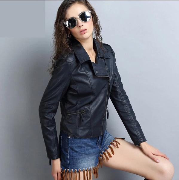 Gemma vegan leather jacket picture