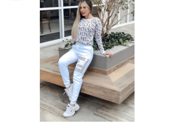 Fashion fabulous tracksuit - white/cream picture