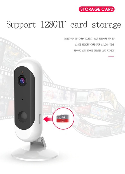 Wireless rechargeable smart wifi ip camera picture