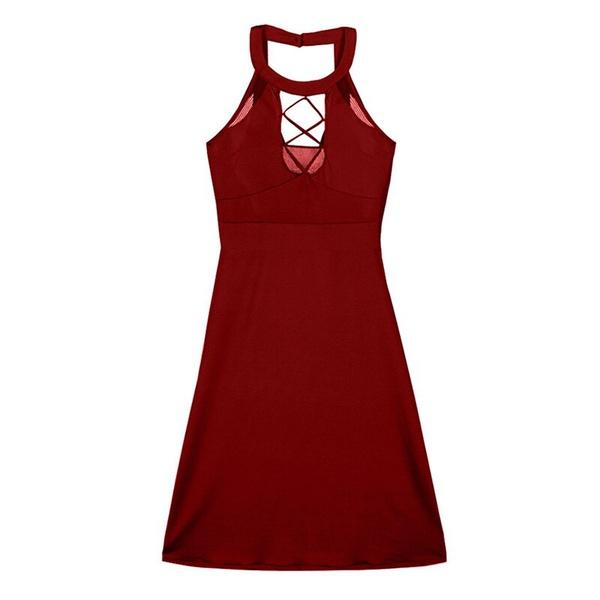 Leyla - plus size sexy burgundy dress picture