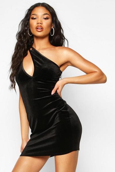 Eden - velvet one shoulder dress picture