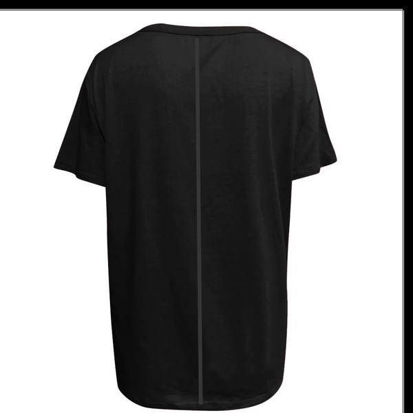 Dandelion plus size ladies casual t-shirt shirt sleeve black picture