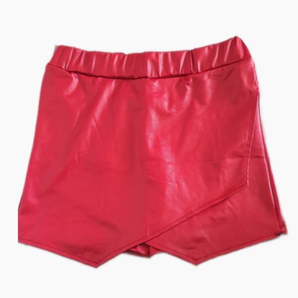 Envylope leather look spandex short skorts red picture