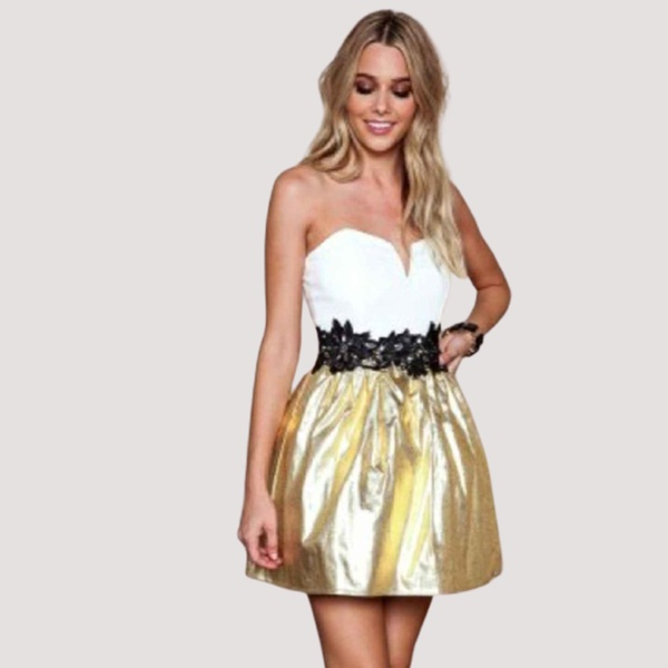 Gold glam pixie dress picture