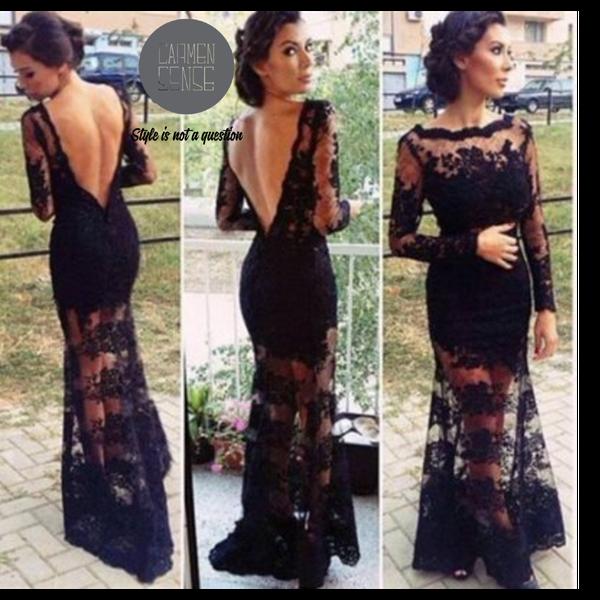 Grace black lace dress picture