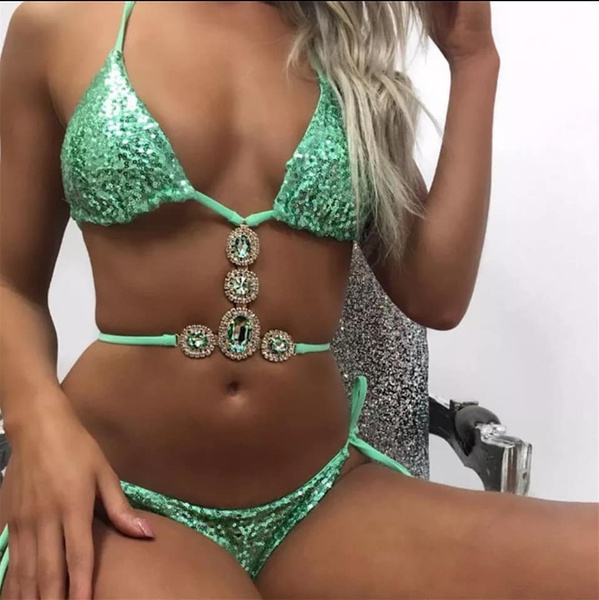 Jade - shimmer mint green tankini set picture
