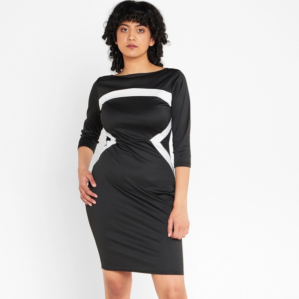Janice pencil dress - black picture