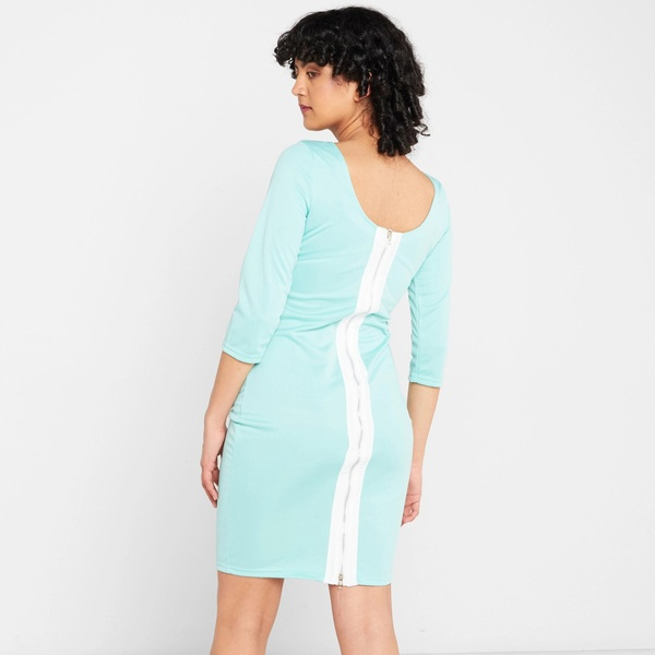 Janice pencil dress - teal picture