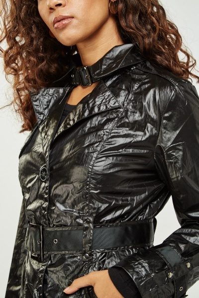 Chromis leather trench coat picture