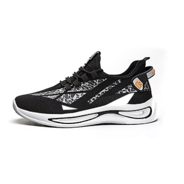 Marbler men's white lace up sneakers black picture