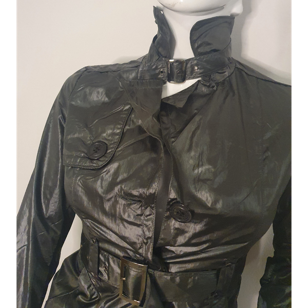 Natalia leather trench coat/dress picture