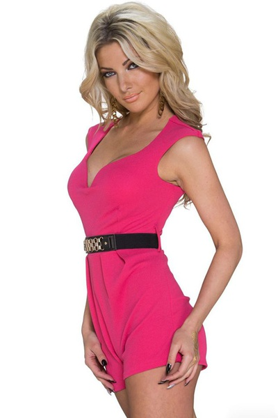 Candy- pink waistband playsuit picture