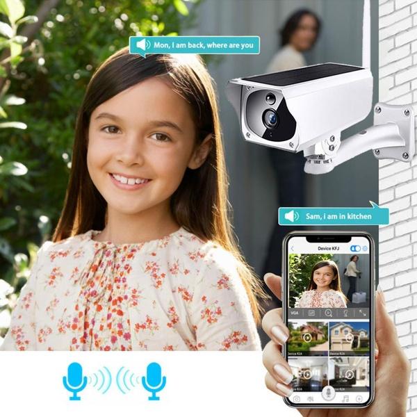 Solar power wifi wireless surveillance 1080p ip camera picture