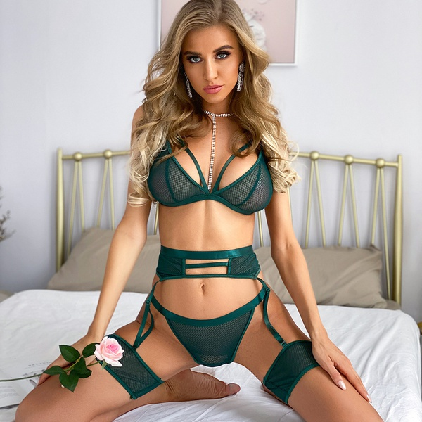 Sheena lingerie set - emerald green picture