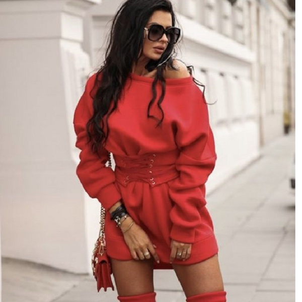 Stacey corset band dress red picture