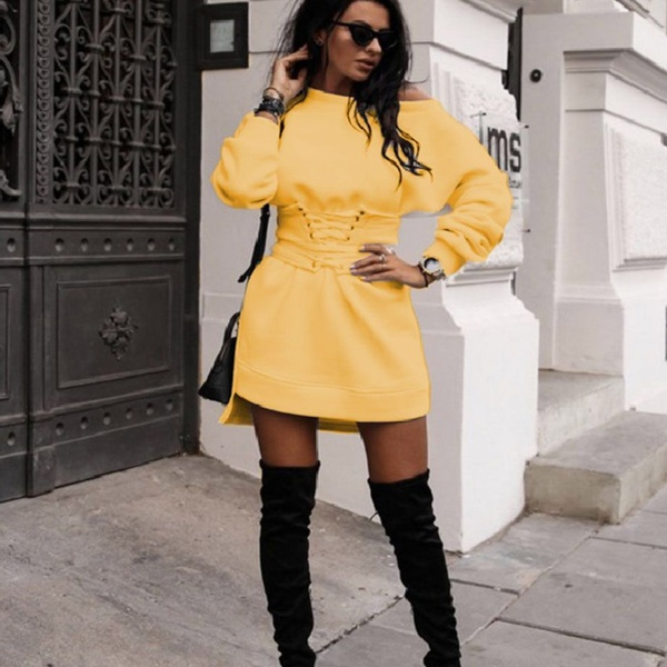 Stacey corset band dress yellow picture
