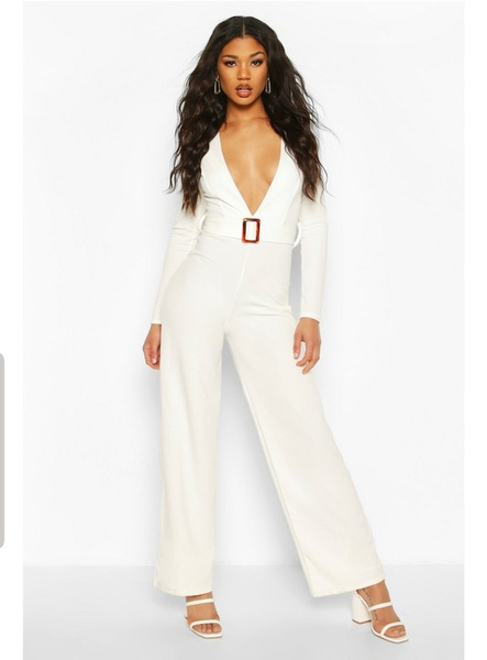 Allia ivory jumpsuit picture