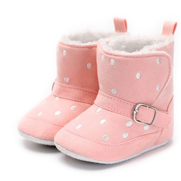 Baby pink booties picture