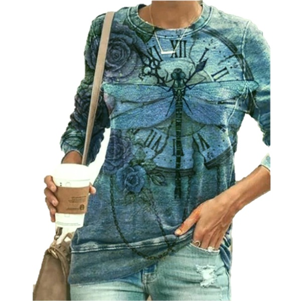 Dragonfly blouse - blue picture