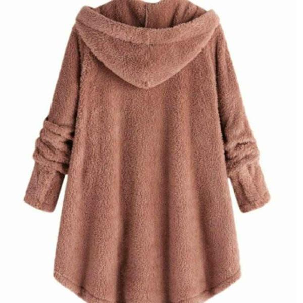 Fleece winter coat - blush pink picture