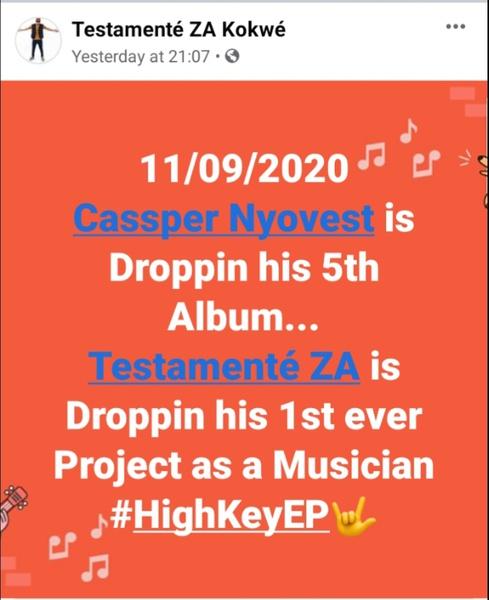 Testamenté announces highkey ep release date picture