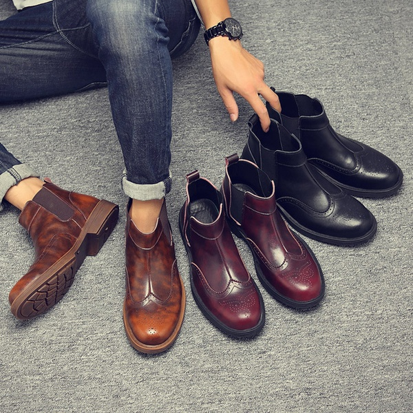Martin leather boots picture