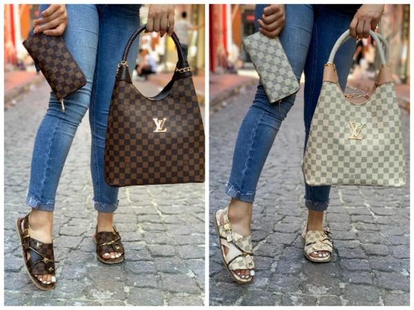 Louis vuitton shoe +bag picture