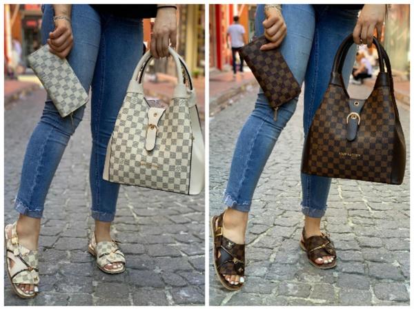 Louis vuitton shoe + bag picture