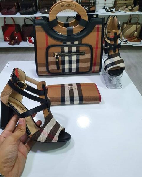 Burberry block heels picture