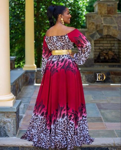 Cold shoulder maxi dress picture