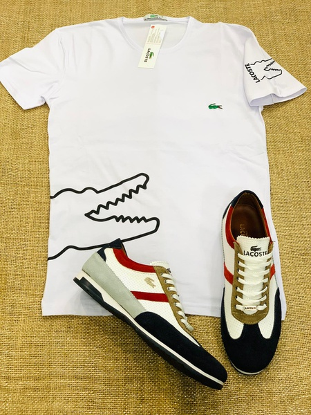 Lacoste shoe and tshirt picture