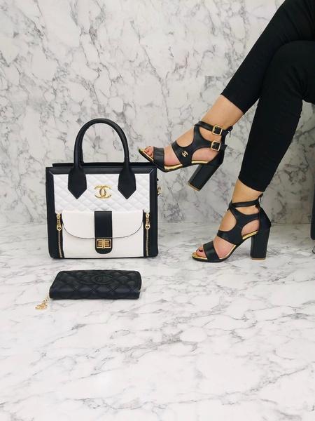 Chanel block heels picture