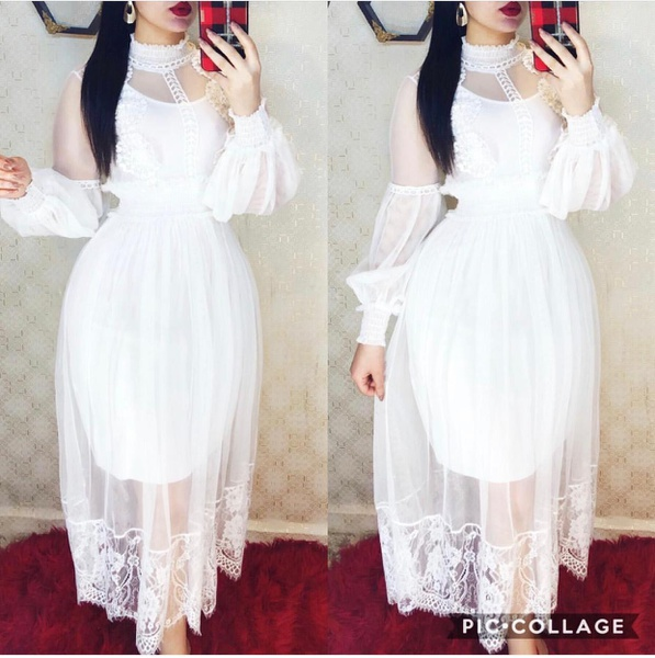 Meshy dress picture