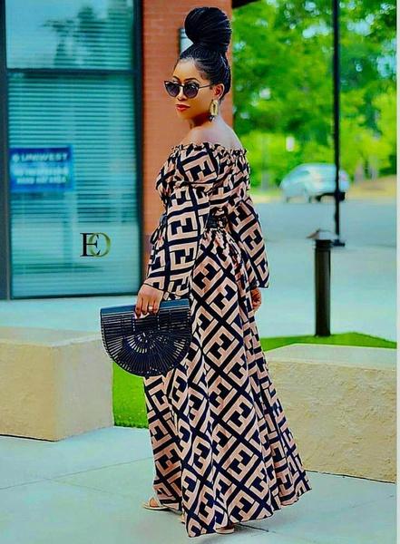 Cold shoulder dress picture