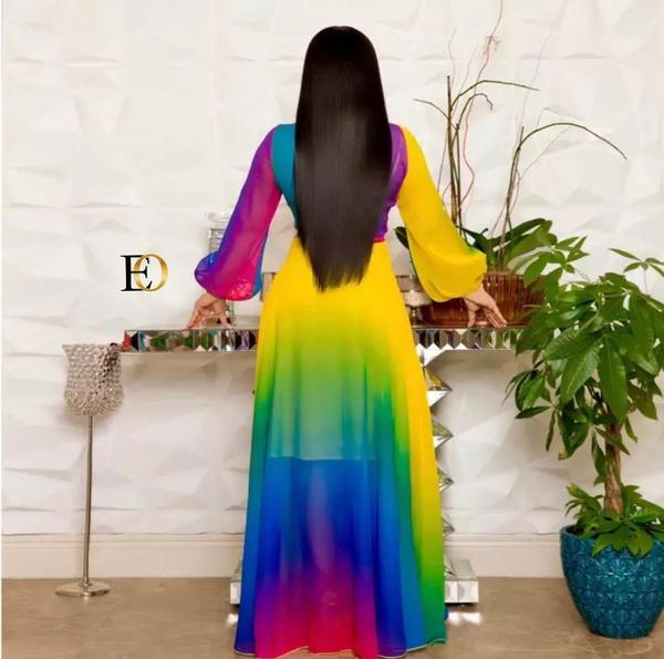 Maxi chiffon dress picture