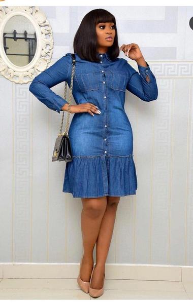 Denim dress picture