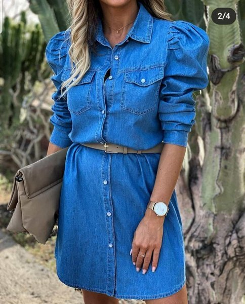 Denim dress picture
