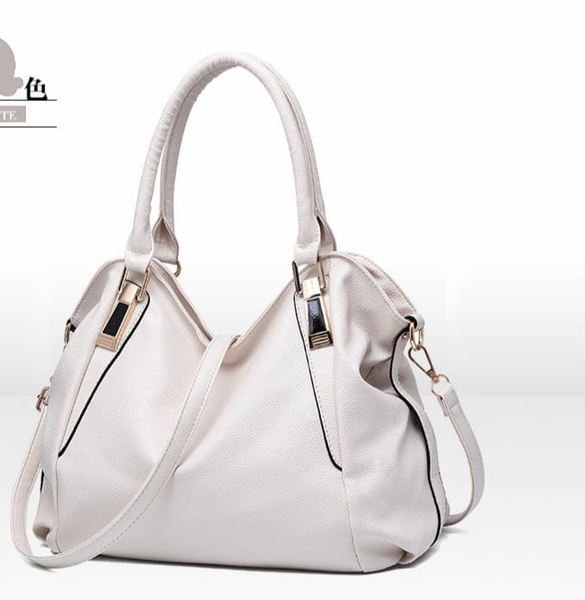 White handbag picture