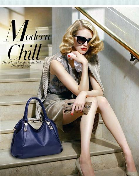 Blue handbag picture