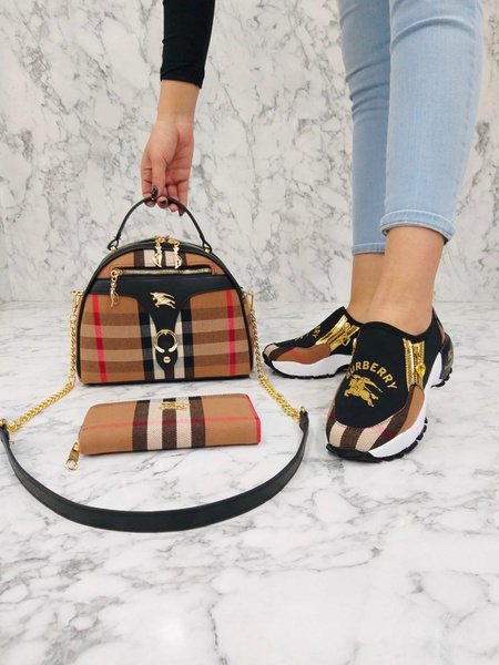 Burberry bag and shoe set picture
