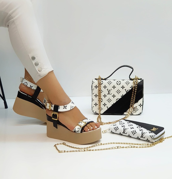 Louis vuitton sidebag and shoes picture
