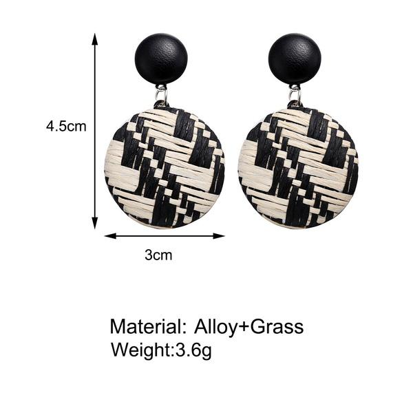 Disc drop earrings picture