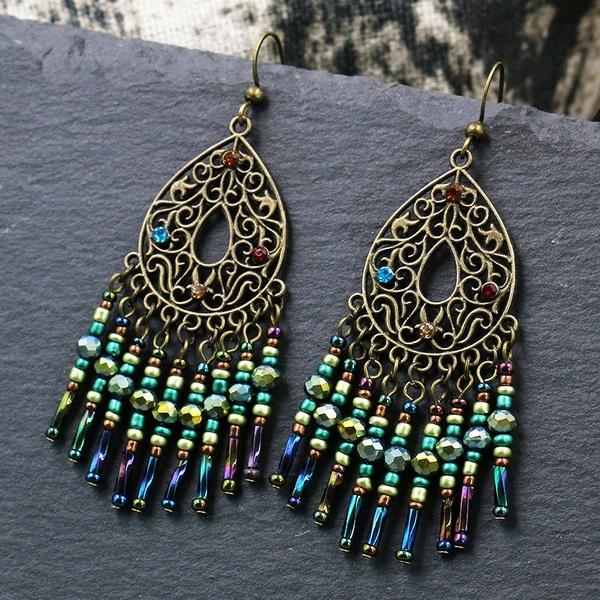 Beaded earrings picture