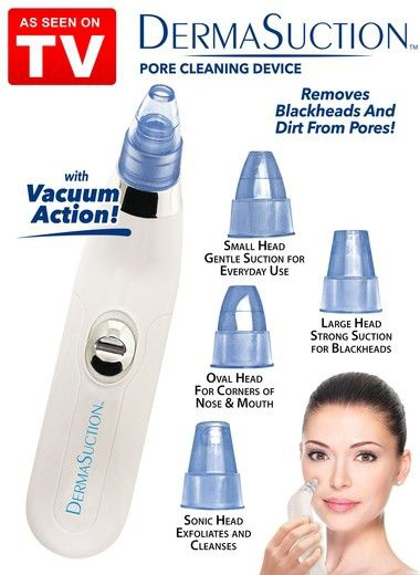 Dermasuction pore cleansing device picture