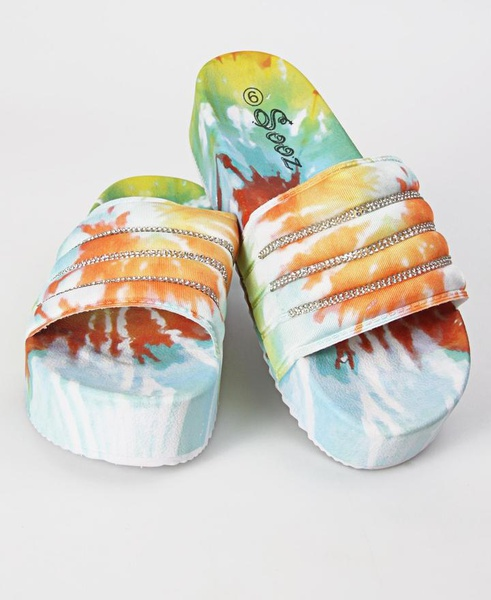 Platform slide sandals picture