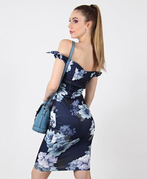 Floral off-shoulder dress picture