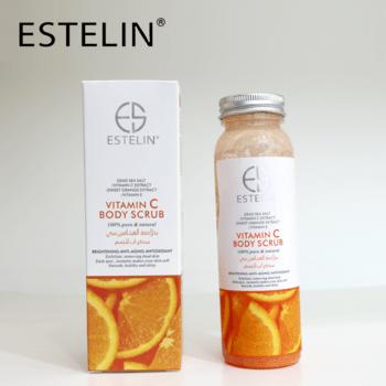 Estelin brightening vitamin c body scrub picture